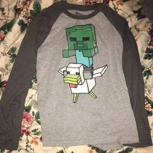Long sleeved Minecraft T-shirt